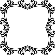 clipart decorative ornamental flourish frame aggrandized 12