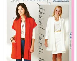 Drape Cardigan Pattern Shawl Sewing Pattern Etsy