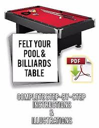 how to refelt a pool table video books video billiards indoor games sporting goods page 5 picclick