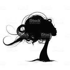 female portrait sketch for your design stock vector art 623450244