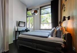 Twin Bedroom Hotel Hotel V Frederiksplein Amsterdam Official Site Modern Rooms