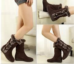 womens winter boots for sale winter fashion brown warm fur casual shoes on sale size 34