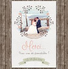 remerciement mariage photo création remerciements mariage tendresse avec photo
