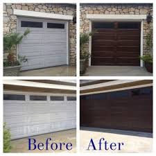 Diy Gel Stain Kitchen Cabinets Diy Garage Door Makeover Using Minwax Gel Stain In Hickory Home