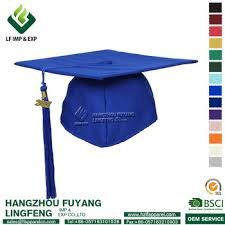 buy graduation cap wholesale high quality graduation royal blue matte cap buy