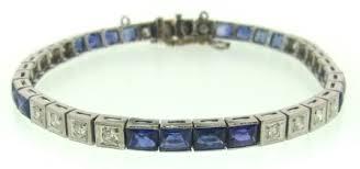 art deco diamonds u0026 sapphires platinum bracelet