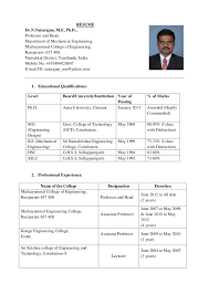 college resume formats resume format for assistant professor in engineering college 736