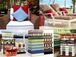 Patio Furniture Fabric with Patio Cushions Venice Beach California Sumbrella Fabrics