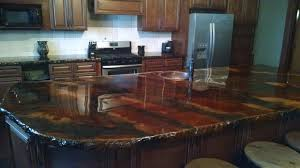 Epoxy Countertop Marbling Acid Stain On Kitchen Countertops Direct Colors Inc