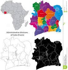Ivory Coast Map Cote D U0027ivoire Map Stock Photo Image 22441140