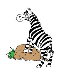 zebra coloring pages kids color print