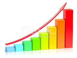 growing chart colorful growing bar chart business success concept stock photos