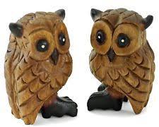 handmade wooden owls decorative ornaments figures ebay