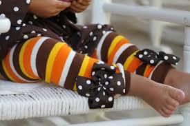 thanksgiving leg warmers orange brown gold striped