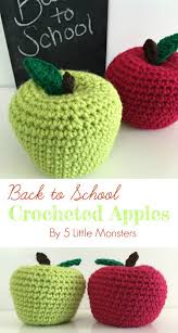 Apple Canisters For The Kitchen 5 Little Monsters Back To Crocheted Apples Moogly