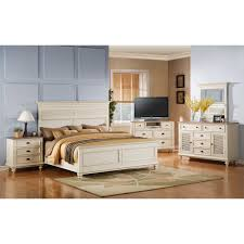 Driftwood Bedroom Furniture by Riverside Coventry Shutter Panel Bed Hayneedle