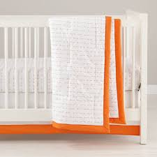 iconic orange arrow baby bedding the land of nod
