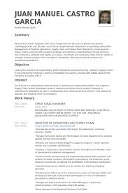 Resume Structure Residential Structural Engineer Sample Resume 20 Chemical