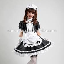 Quality Halloween Costume Quality Maid Dress Waitress Uniform Costume Black