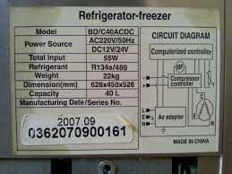 snofreeze baixue bd c40acdc fridge freezer manual