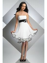 graduation white dresses line black white bridesmaid dresses evening cocktail