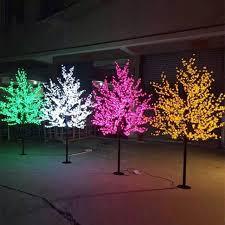 Led Landscape Tree Lights Dvolador Led Cherry Blossom Tree Light 0 8m 1 2m Tree