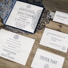 wedding invitations canada classic nautical navy blue laser cut wedding invitations ewws095
