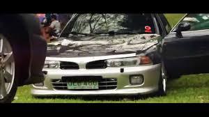 stanced mitsubishi galant galant 7g club fun run youtube