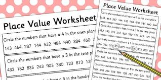 value of a digit worksheet place value worksheet 3 digits place value worksheet 3