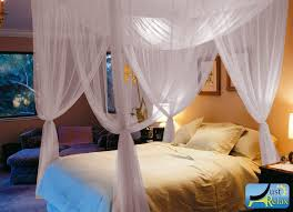 Mosquito Net Bed Canopy Just Relax Four Corner Post Mosquito Net Bed Canopy Set