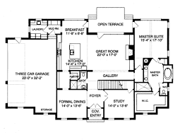 colonial style house plan 4 beds 4 00 baths 3552 sq ft plan 413 810