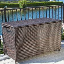 Wicker Storage Bench Deck Boxes U0026 Patio Storage