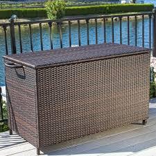 home loft concepts hampton 150 gallon wicker deck box u0026 reviews