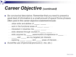 resume objective exles for service crew resume of a service crew