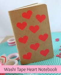 Washi Tape Heart Notebook Tutorial EverythingEtsy