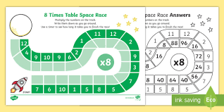 8 times table worksheet 8 times table space race worksheet activity sheet 8 times