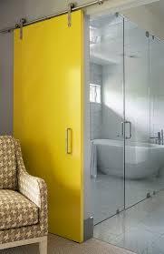 Modern Barn Doors Denver Modern Barn Doors Bathroom Contemporary With Yellow Door