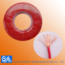 selling flexible control electric wire color code single wire