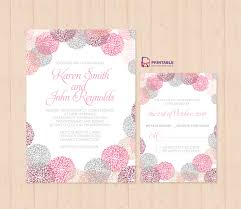 wedding invitations freepik flower works wedding invitation and rsvp set wedding invitation