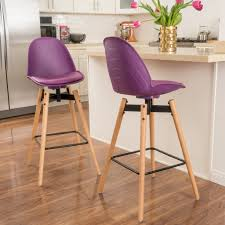daniel contemporary leather purple bar chair set of 2 u2013 noble
