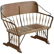 Antique Outdoor Benches For Sale by Antique Buggy Or Sleigh Seat Bench With Iron Works For Sale At 1stdibs