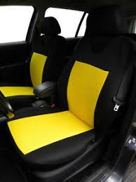 housse siege smart 2 yellow front car seat covers with dots for smart city cabriolet ebay