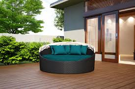 Outdoor Wicker Patio Furniture Round Canopy Bed Daybed - wink canopy day bed on sale patio productions