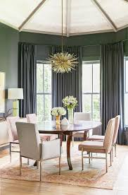 Oly Pipa Bowl Chandelier by Gray Dining Room With Pink Velvet Dining Chairs Transitional