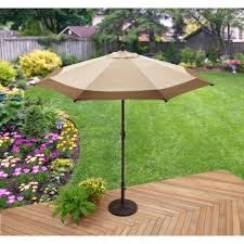 better homes u0026 gardens 11 u0027 offset umbrella with base tan