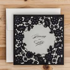 Black And White Invitation Cards Aliexpress Com Buy Laser Cut Wedding Invitations Cards Red Black