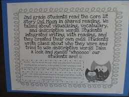 confessions of a primary teacher owl moon and descriptive writing