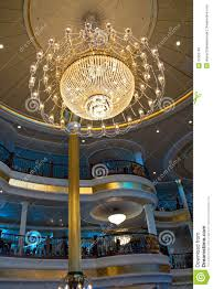 Crystal Ship Chandelier Elegant Crystal Chandelier Royalty Free Stock Photography Image