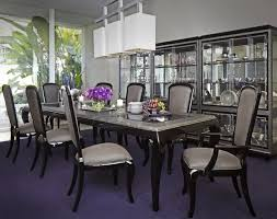 contemporary formal dining room sets michael amini after eight formal dining room set black onyx by aico
