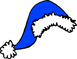 blue santa hat santa hat clipart hanslodge cliparts